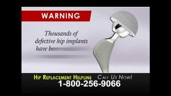 Weitz and Luxenberg TV Spot, 'Hip Replacement Problems Helpline' - Thumbnail 1