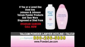 Goza Honnold Trial Lawyers TV Spot, 'Talcum Powder Links to Lawsuit'