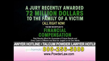 Goza Honnold Trial Lawyers TV Spot, 'Talcum Powder Links to Lawsuit' - Thumbnail 9