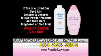 Goza Honnold Trial Lawyers TV Spot, 'Talcum Powder Links to Lawsuit' - Thumbnail 2