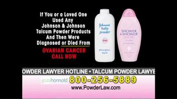 Goza Honnold Trial Lawyers TV Spot, 'Talcum Powder Links to Lawsuit' - Thumbnail 3