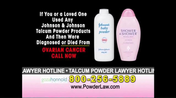 Goza Honnold Trial Lawyers TV Spot, 'Talcum Powder Links to Lawsuit' - Thumbnail 4