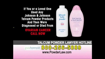 Goza Honnold Trial Lawyers TV Spot, 'Talcum Powder Links to Lawsuit' - Thumbnail 5