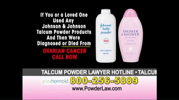 Goza Honnold Trial Lawyers TV Spot, 'Talcum Powder Links to Lawsuit' - Thumbnail 6