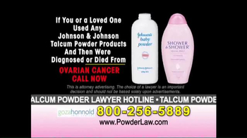 Goza Honnold Trial Lawyers TV Spot, 'Talcum Powder Links to Lawsuit' - Thumbnail 7