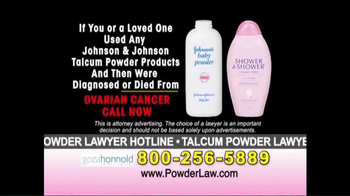 Goza Honnold Trial Lawyers TV Spot, 'Talcum Powder Links to Lawsuit' - Thumbnail 8