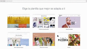 Wix.com TV Spot, 'Cientos de plantillas' [Spanish]