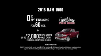 Ram Trucks Guts and Glory Truck Month TV Spot, 'Sorry, Mom' - Thumbnail 10