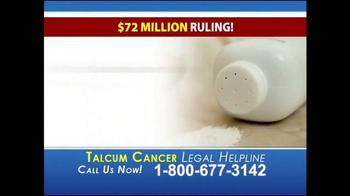 Heygood, Orr and Pearson TV Spot, 'Talcum Cancer Legal Helpline' - Thumbnail 2