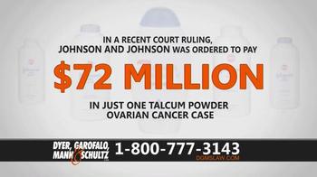 Dyer, Garofalo, Mann & Schultz TV Spot, 'Links to Ovarian Cancer' - Thumbnail 4
