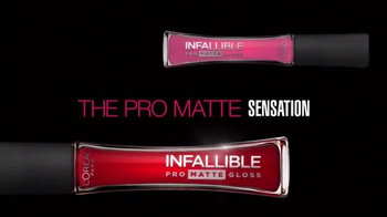 L'Oreal Paris Infallible Pro Matte Gloss TV Spot, 'Velvety Lips' - Thumbnail 1