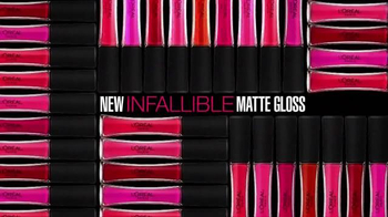 L'Oreal Paris Infallible Pro Matte Gloss TV Spot, 'Velvety Lips' - Thumbnail 7