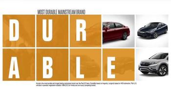Honda Dream Garage Sales Event TV Spot, 'Built on First: 2016 Accord' - Thumbnail 1