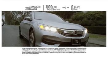 Honda Dream Garage Sales Event TV Spot, 'Built on First: 2016 Accord' - Thumbnail 7