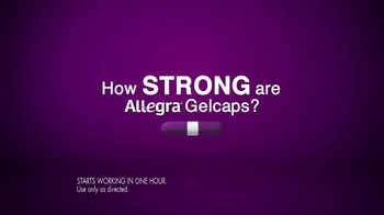 Allegra Gelcaps TV Spot, 'How Fast?' - Thumbnail 3