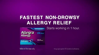 Allegra Gelcaps TV Spot, 'How Fast?' - Thumbnail 5