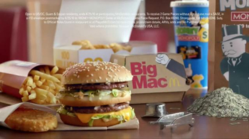 McDonald's Money Monopoly TV Spot, 'Prizes Are Coming' - 291 commercial airings