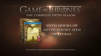 Game of Thrones: The Complete Fifth Season Home Entertainment TV Spot - Thumbnail 8
