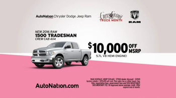 AutoNation Ram Truck Month TV Spot, 'Drive Pink: How Fast Can You Save' - Thumbnail 5