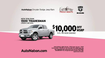 AutoNation Ram Truck Month TV Spot, 'Drive Pink: How Fast Can You Save' - Thumbnail 6