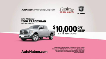 AutoNation Ram Truck Month TV Spot, 'Drive Pink: How Fast Can You Save' - Thumbnail 8