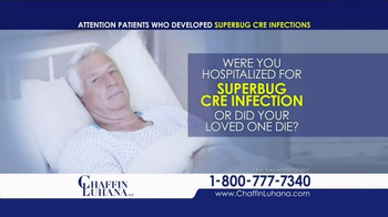Chaffin Luhana TV Spot, 'Superbug CRE Infection Lawsuit' - Thumbnail 4