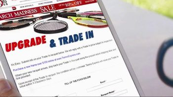 Tennis Express March Madness Sale TV Spot, 'Racquet Trade-In'