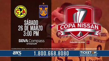CONCACAF TV Spot, 'Copa Nissan: Club América vs. Tigres UANL' [Spanish] - 37 commercial airings