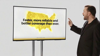 Verizon TV Spot, 'A Better Network as Explained by Ricky Gervais, Part Two' - 3084 commercial airings