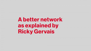 Verizon TV Spot, 'A Better Network as Explained by Ricky Gervais, Part 3' - Thumbnail 1