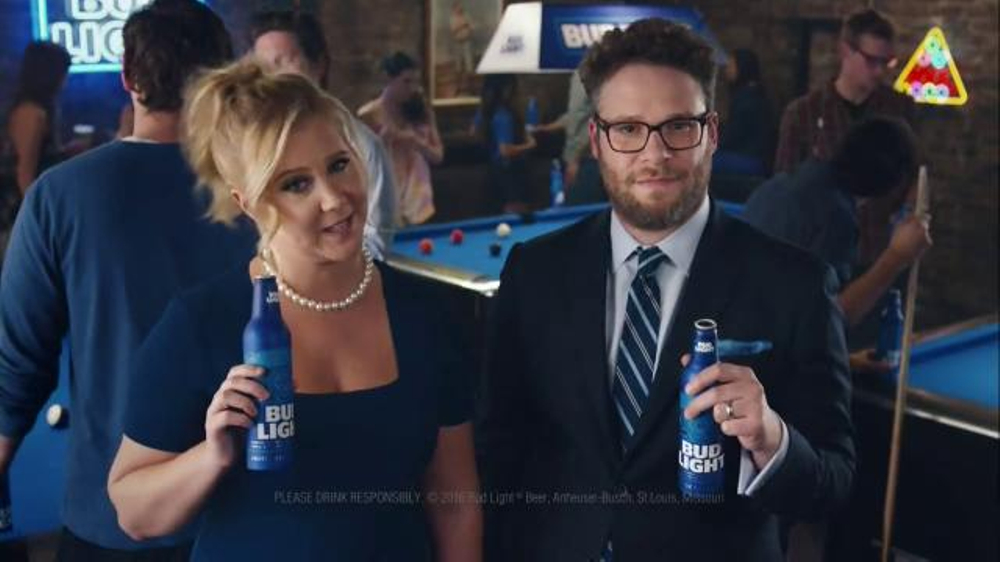 Bud light tv commercial debates featuring seth rogen amy schumer bud light tv commercial debates featuring seth rogen amy schumer ispot mozeypictures Choice Image