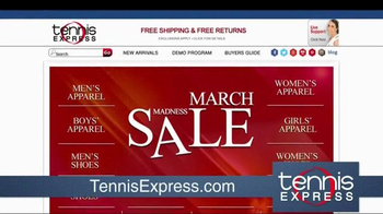 Tennis Express March Madness Sale TV Spot, 'The Savings Starts Now' - Thumbnail 1