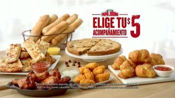 Papa John's Acompañamientos por $5 TV Spot, 'Tú eliges' [Spanish] - 92 commercial airings