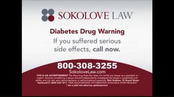 Sokolove Law TV Spot, 'Diabetes Drug Warning' - Thumbnail 6