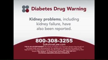 Sokolove Law TV Spot, 'Diabetes Drug Warning' - Thumbnail 2