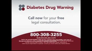 Sokolove Law TV Spot, 'Diabetes Drug Warning' - Thumbnail 5