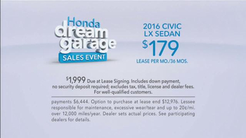 Honda Dream Garage Sales Event TV Spot, 'Startup' - Thumbnail 7