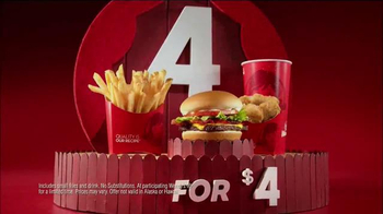 Wendy's 4 for $4 TV Spot, 'Wallpaper' - Thumbnail 7