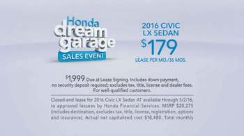 Honda Dream Garage Sales Event TV Spot, 'Many Uses' - Thumbnail 7