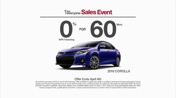 Toyota 1 for Everyone Sales Event TV Spot, 'Sound System: 2016 Corolla' - Thumbnail 6