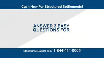Stone Street Capital TV Spot, 'Structured Settlement: $100 Cash' - Thumbnail 1