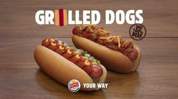 Burger King Grilled Dogs TV Spot, 'Man Created Fire' - Thumbnail 9