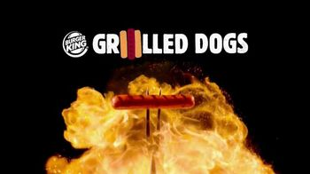 Burger King Grilled Dogs TV Spot, 'Man Created Fire' - Thumbnail 4