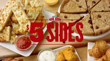 Papa John's $5 Sides TV Spot, 'Delicious Sides' - Thumbnail 1