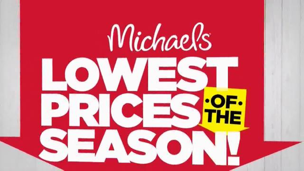 Michaels Lowest Prices of the Season Sale TV Commercial, \'Canvas and ...