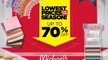 Michaels Lowest Prices of the Season Sale TV Spot, 'Canvas and Frames' - Thumbnail 5