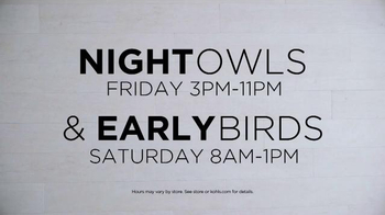 Kohl's TV Spot, 'SONOMA Goods for Life: Night Owls & Early Birds' - Thumbnail 2