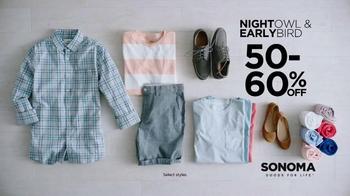 Kohl's TV Spot, 'SONOMA Goods for Life: Night Owls & Early Birds' - Thumbnail 4