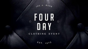 JoS. A. Bank Four Day Clothing Event TV Spot, 'Suits & Sportcoats' - Thumbnail 1