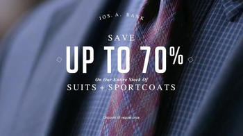 JoS. A. Bank Four Day Clothing Event TV Spot, 'Suits & Sportcoats' - Thumbnail 2